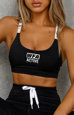 Power Move Sports Bra Black