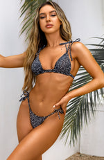 Take Me Away Bikini Top Black Speckle