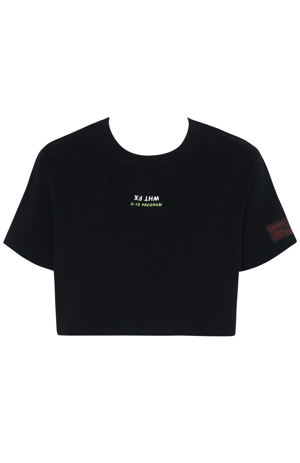 RAS Mode Cropped Tee Black