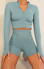 Seamless High Waisted Shorts Sage