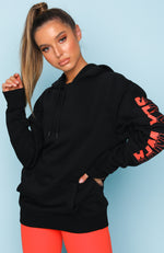 After Dark Oversized Hoodie Black
