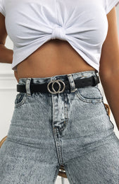Gigi Belt Black/Silver