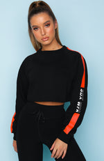 Cutaway Cropped Sweater Black