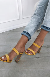 Dionis Mules Yellow Suede