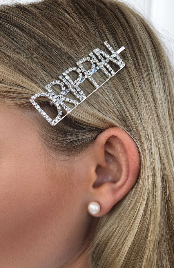 Strong Facts Diamante Hair Pin Drippin