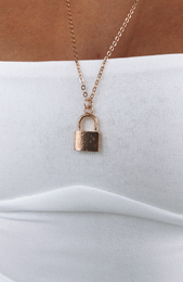 Locked Down Necklace Gold