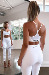 Fair Play Mesh Sports Bra White