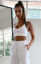 Low Key Sports Bra White