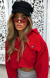 Tyra Sunglasses Red