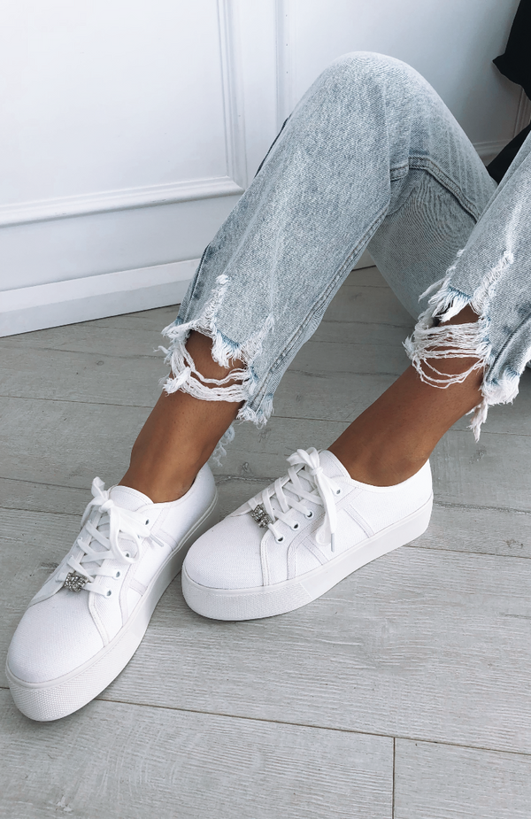 Roquette Diamante Sneakers White