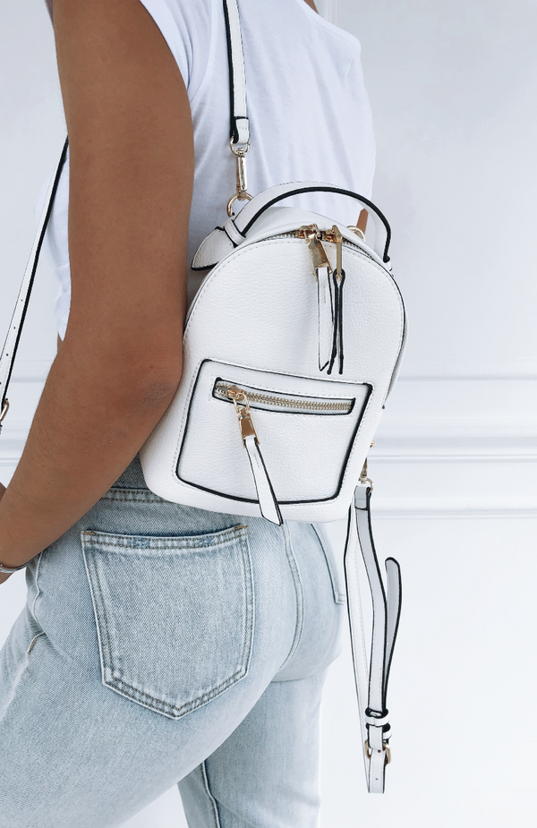 Zoe Mini Backpack White