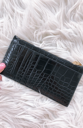 Marley Slim Wallet Black Croc