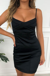 Want It All Mini Dress Black