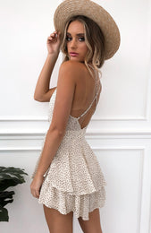 Walk Me Home Playsuit Beige Speckle