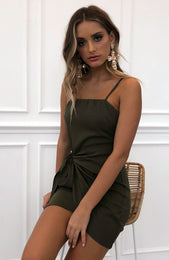 Any Takers Dress Khaki