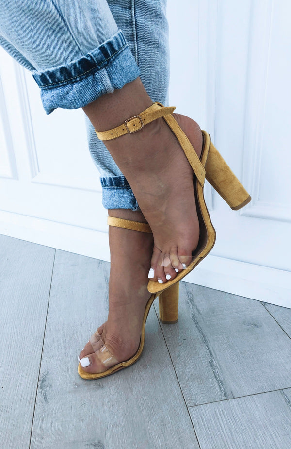 Lorde Heels Yellow Suede