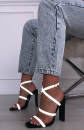 Statement Reflective Heels Black
