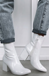 London Boots White