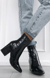 London Boots Patent Black