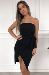 Work Of Art Midi Dress Black