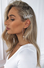 Strong Facts Diamante Hair Pin Glam