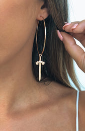 Ride Or Die Earrings Gold