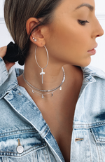 Ride Or Die Earrings Silver