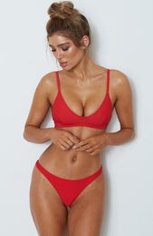L'Escala Bikini Top Red