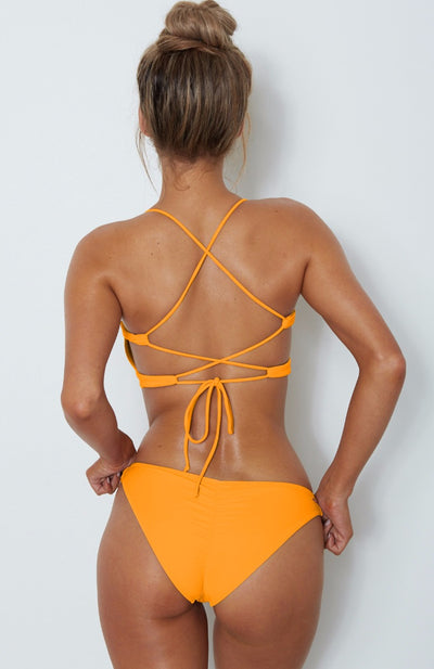Messina Bikini Top Tangerine