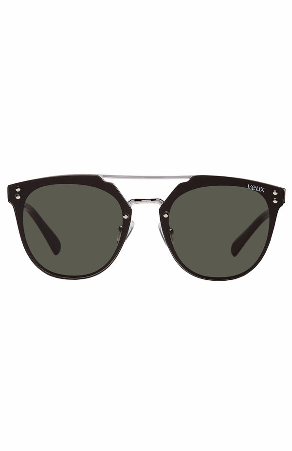 Olivet Sunglasses Black/Silver