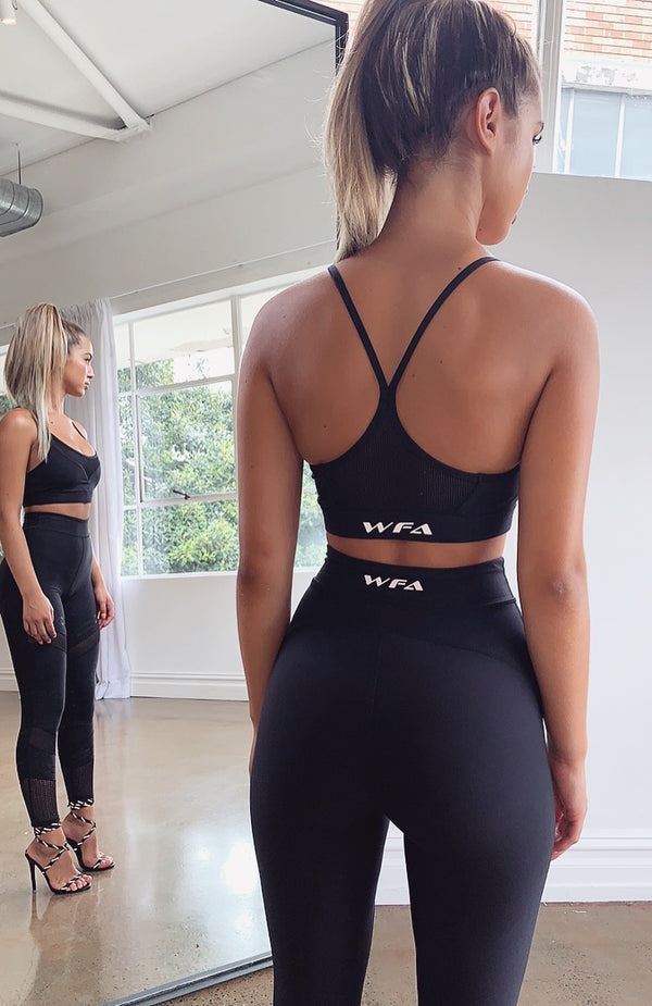 Fair Play Mesh Sports Bra Black