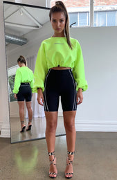 Nobody's Business Cropped Sweater Neon Green