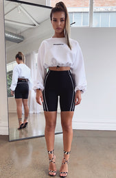 Nobody's Business Cropped Sweater White