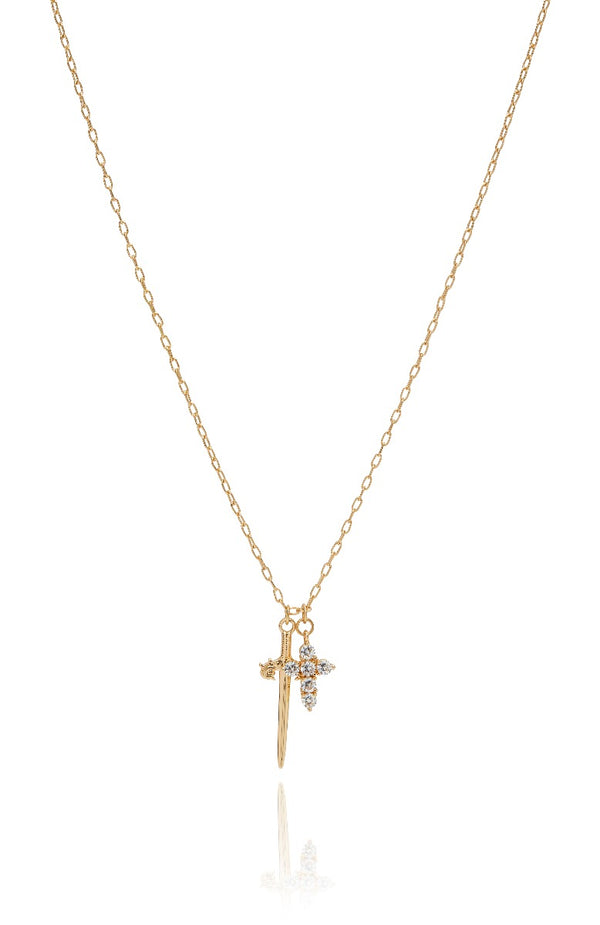 Watch The Throne Necklace Gold