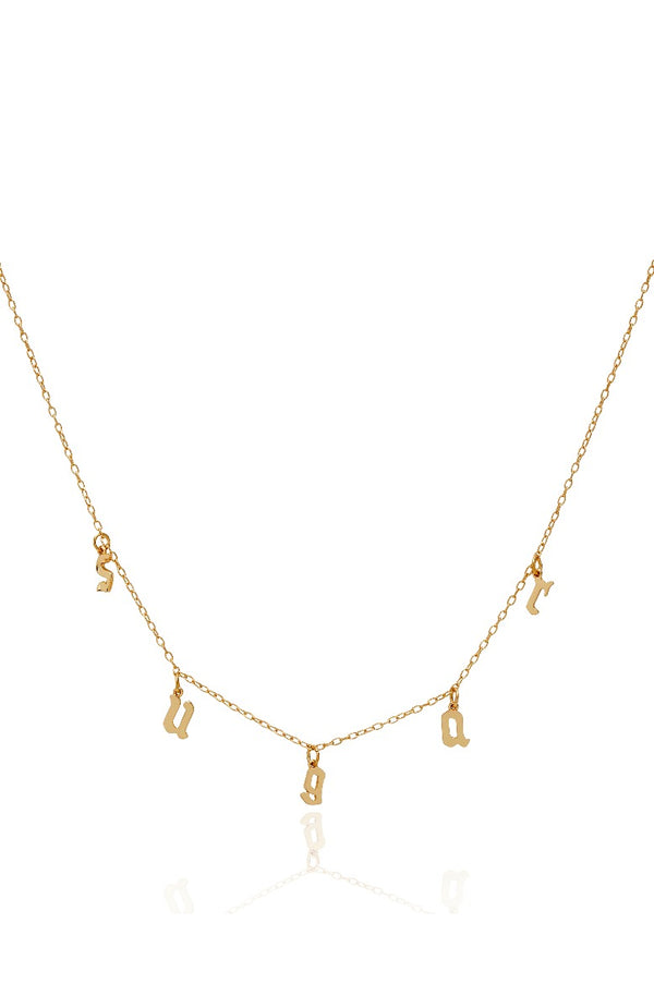 Sugar Sugar Necklace Gold