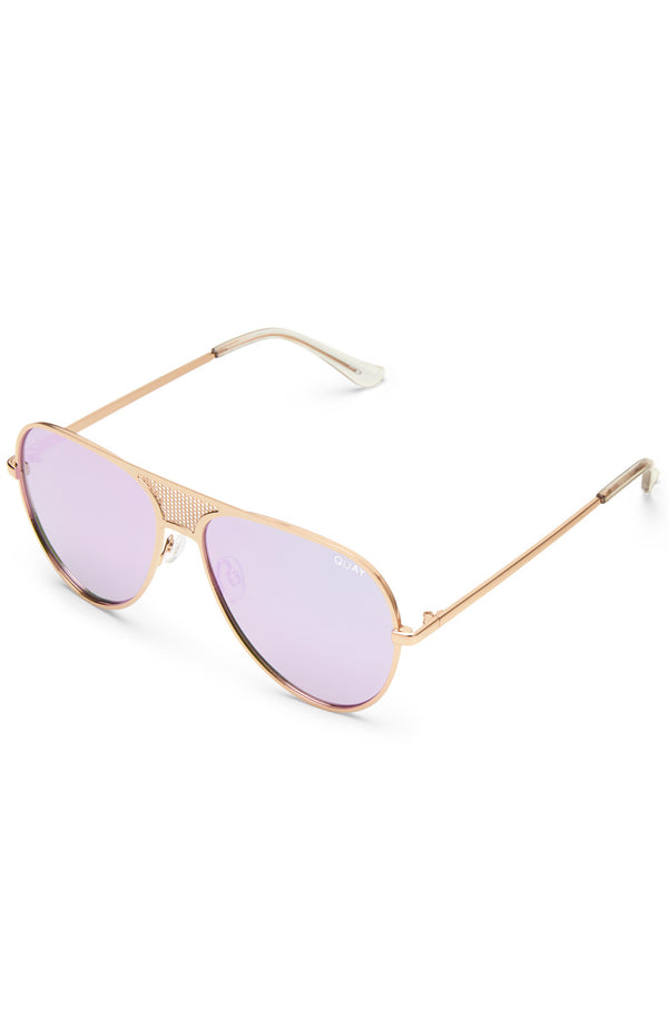Iconic Sunglasses Gold/Purple Mint