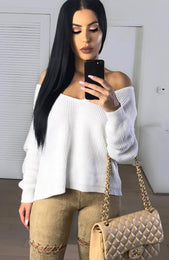 Soft White Knit