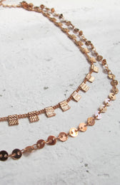 City Lights Choker Rose Gold