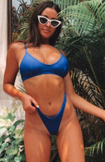 L'Escala Bikini Top Electric Blue