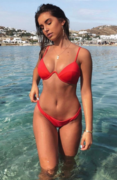 Catalina Bikini Top Red