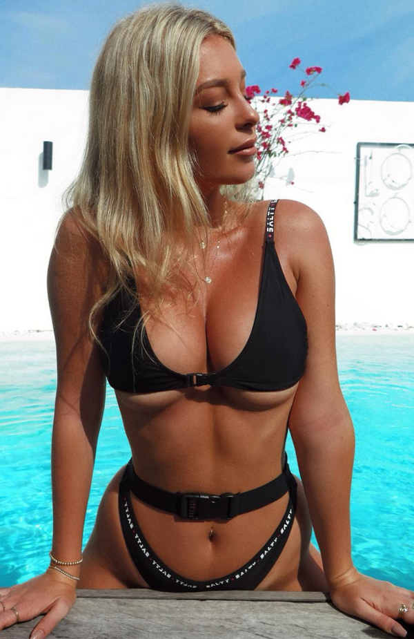 Take A Dip Bikini Top Black