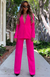Revive Buckle Pants Hot Pink