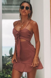 Elora Mini Dress Mauve