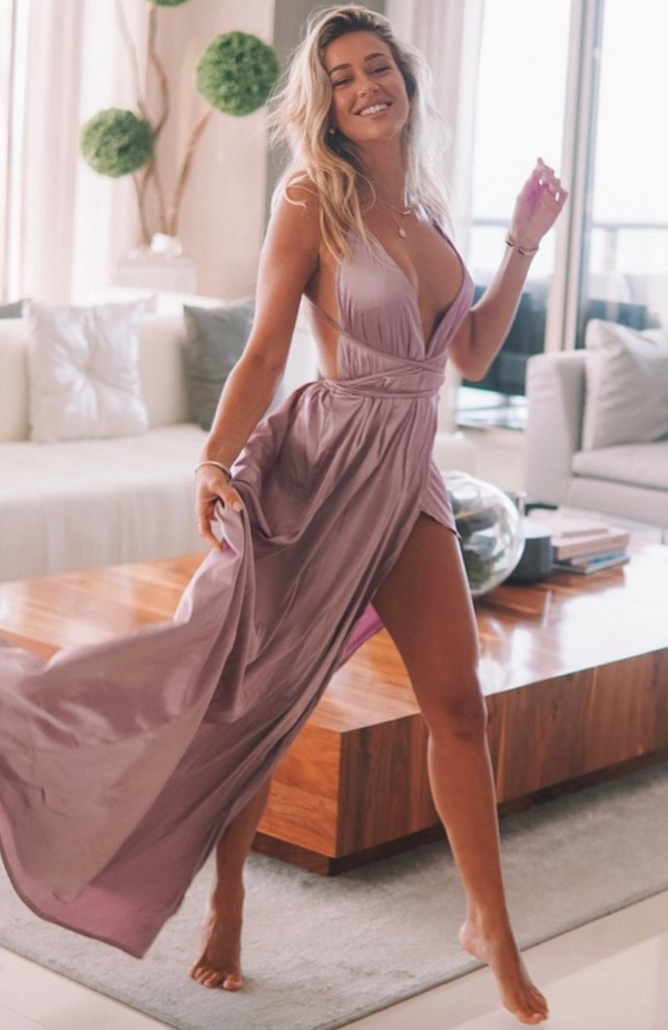 Akela Maxi Dress Mauve