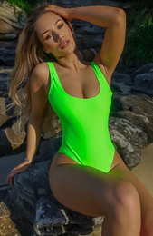 St Tropez One Piece Neon Green