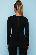 She's Seamless Long Sleeve Top Black