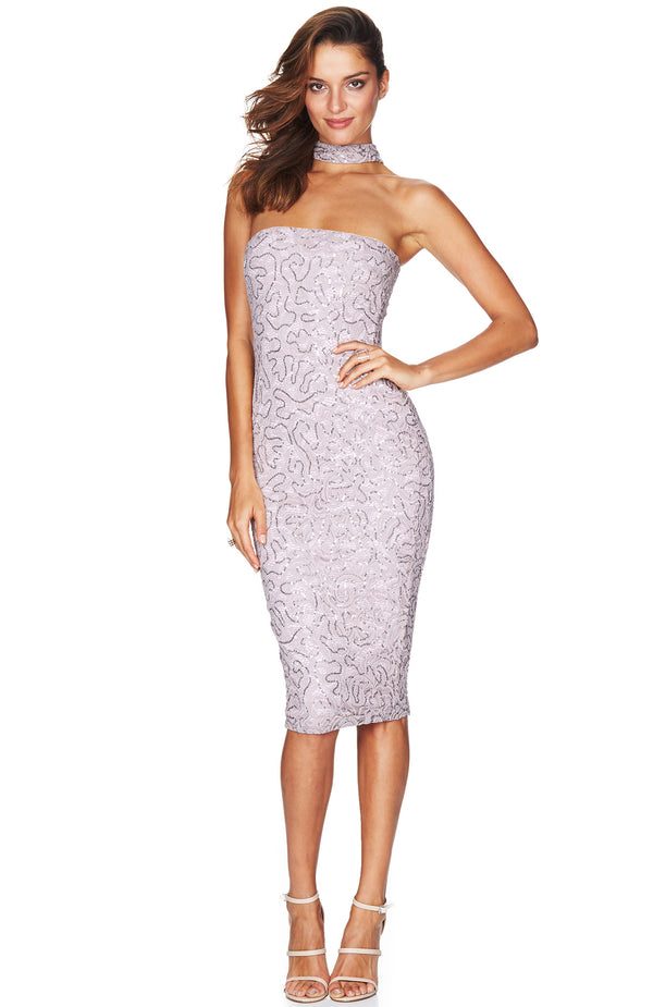 Star Gazer Midi Dress Blush