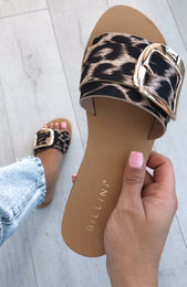 Cayo Slides Light Leopard