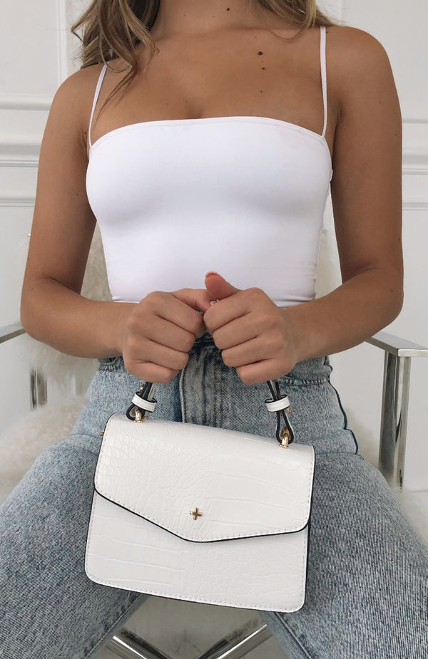 Anna Mini Bag White Croc