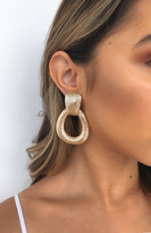 Just Because Earrings Gold